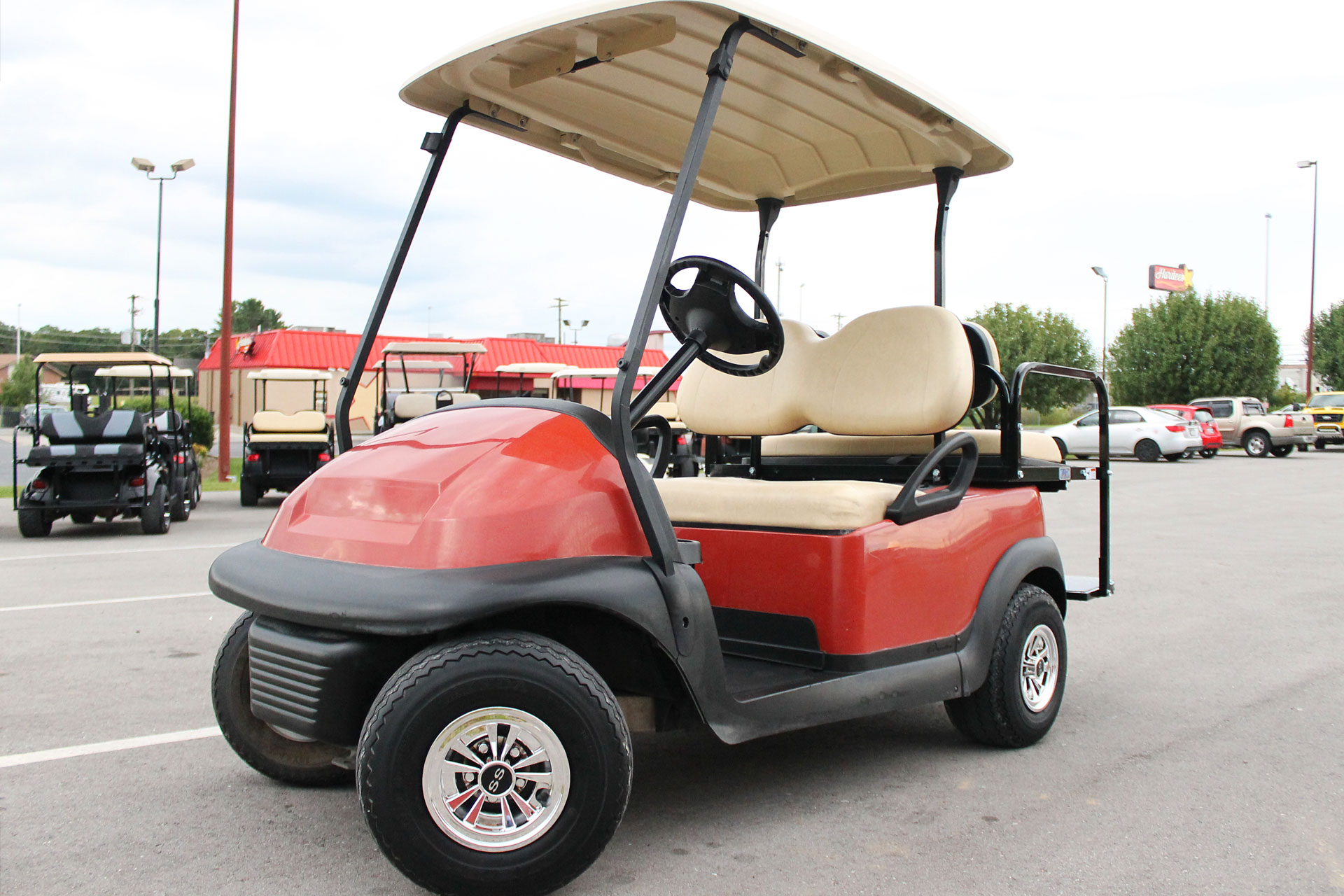 2014 Club Car Precedent With Rear Flip Seat And Ss Wheel Covers 02