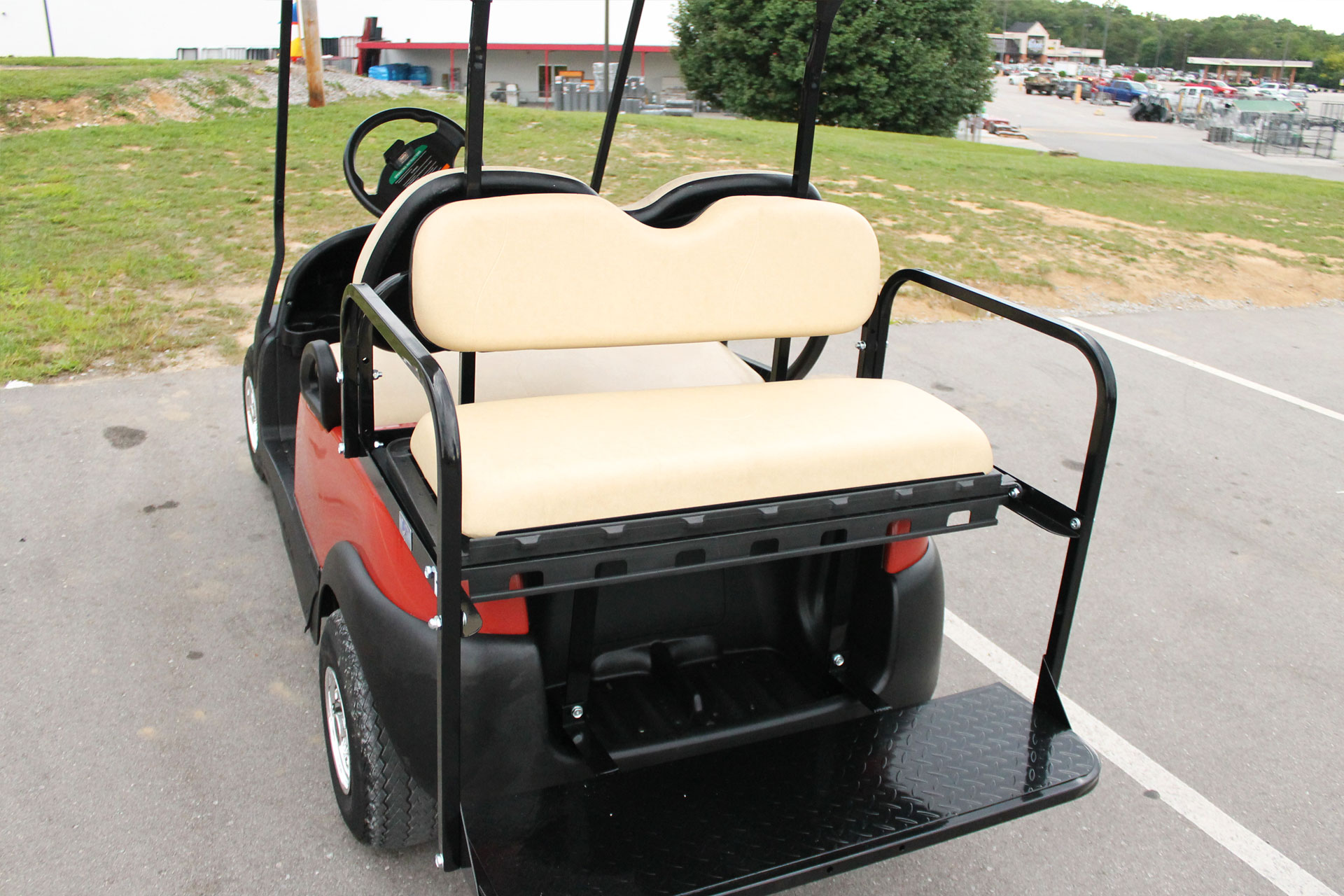 2014 Club Car Precedent With Rear Flip Seat And Ss Wheel Covers 09