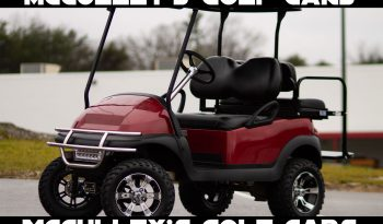 Club Car Precedent With 6″ Lift and All Terrain Tires Coral Red