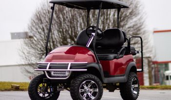 Club Car Precedent With 6″ Lift and All Terrain Tires Coral Red full