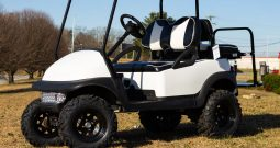 2015 Club Car Precedent Lifted with Black and White Rally Seats