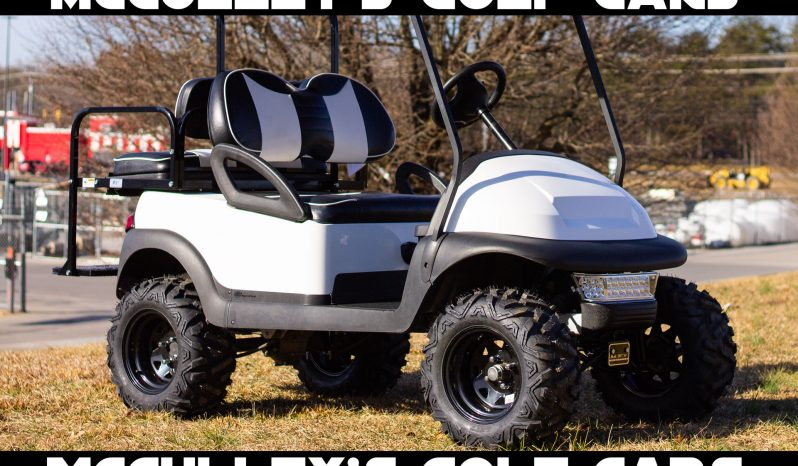 2015 Club Car Precedent Lifted with Black and White Rally Seats full